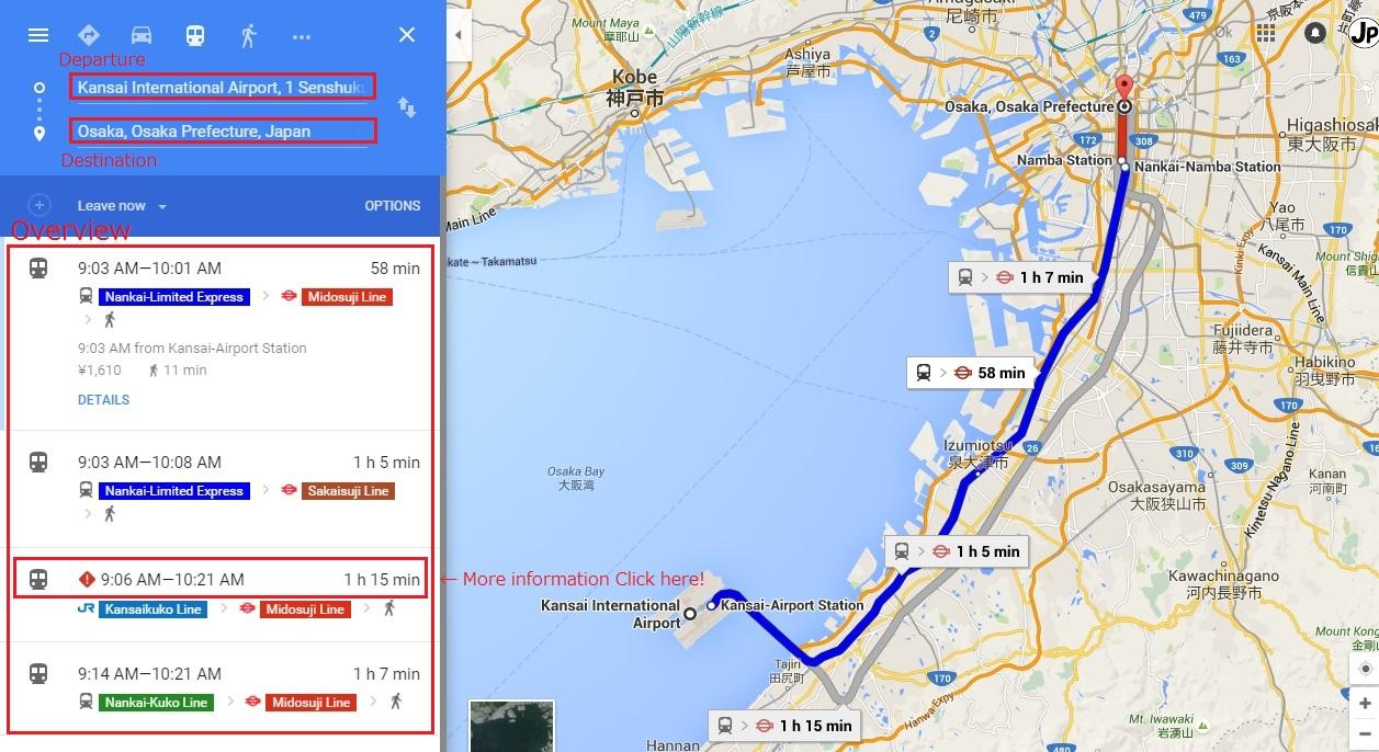Japan railway: transfer guide service (multi-lingual)