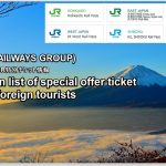 Special offer ticket of JR for foreign tourists.
