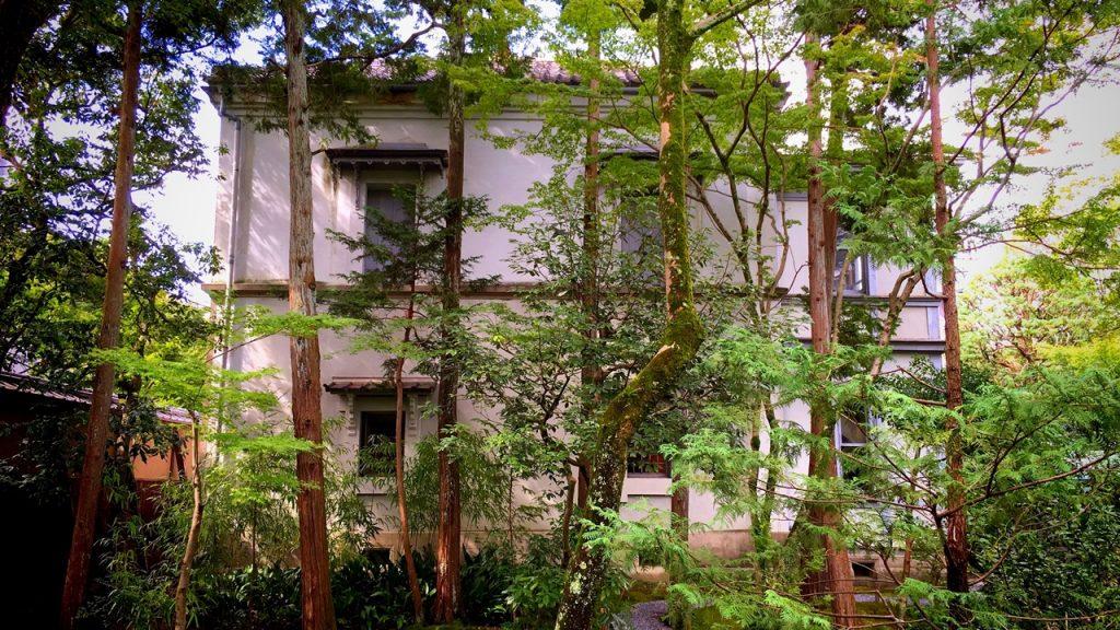「無鄰菴」木々に覆われた洋館