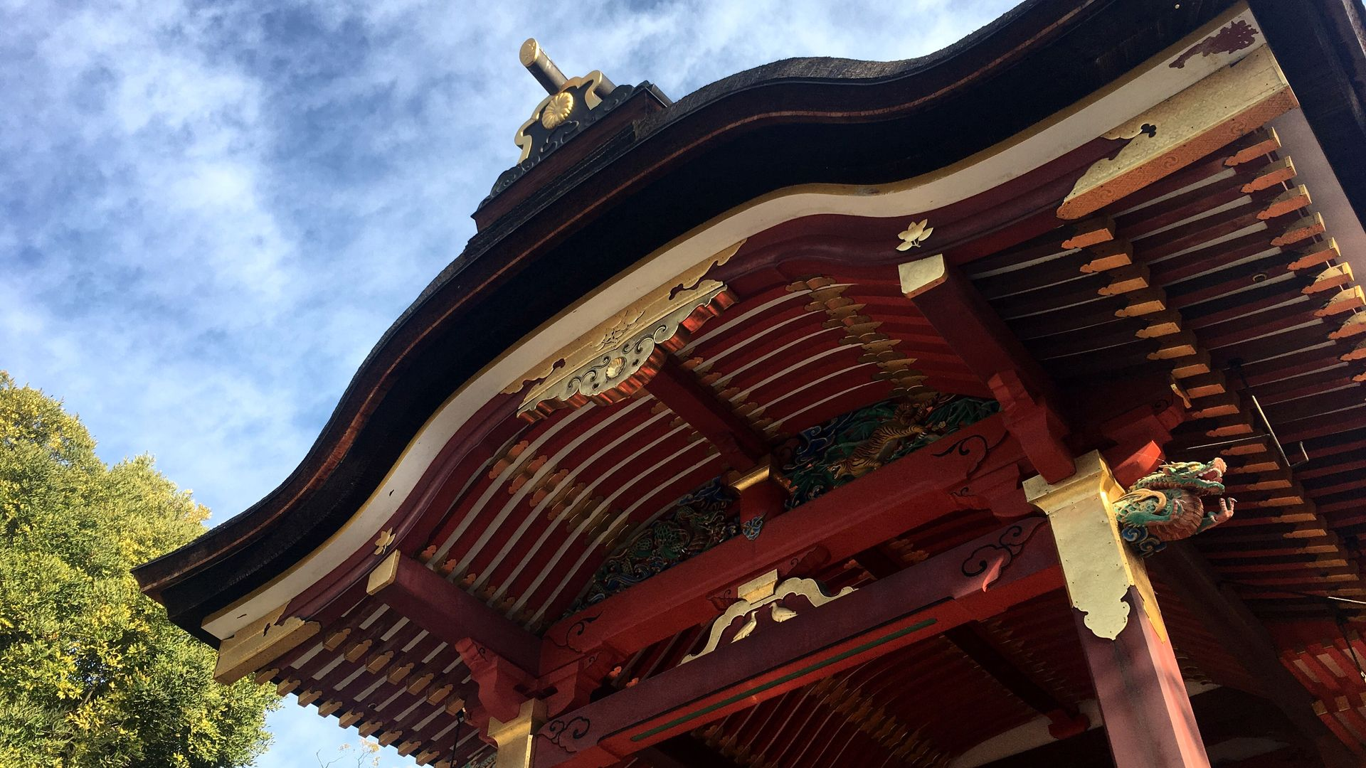 石清水八幡宮-御本殿の屋根