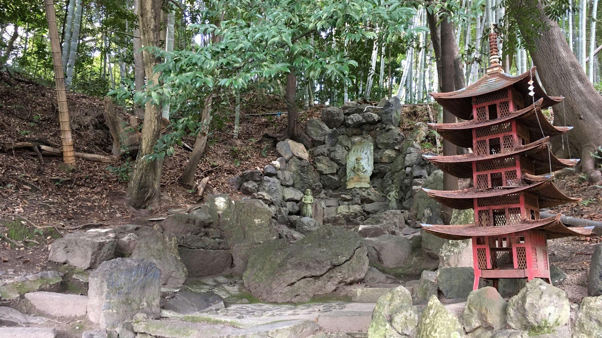 勧修寺の翠微瀑その2