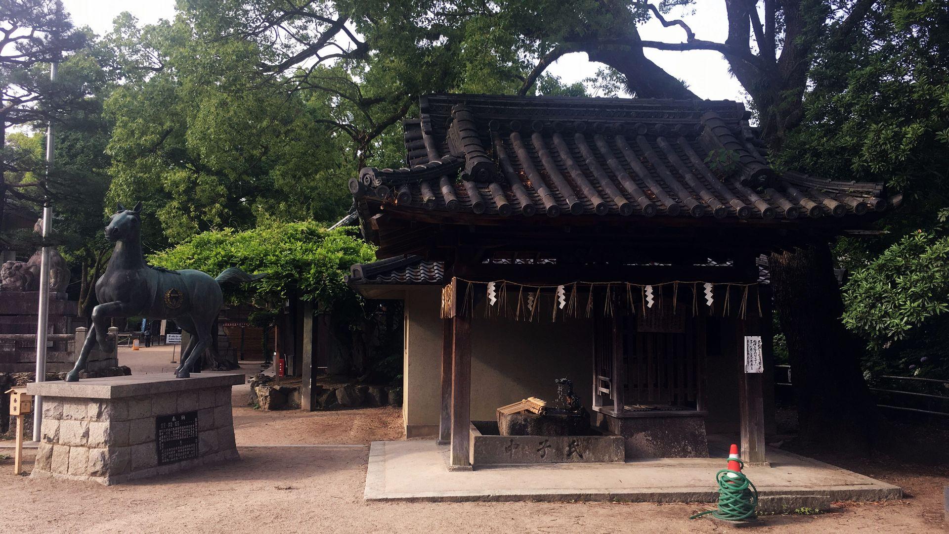 藤森神社の手水舎