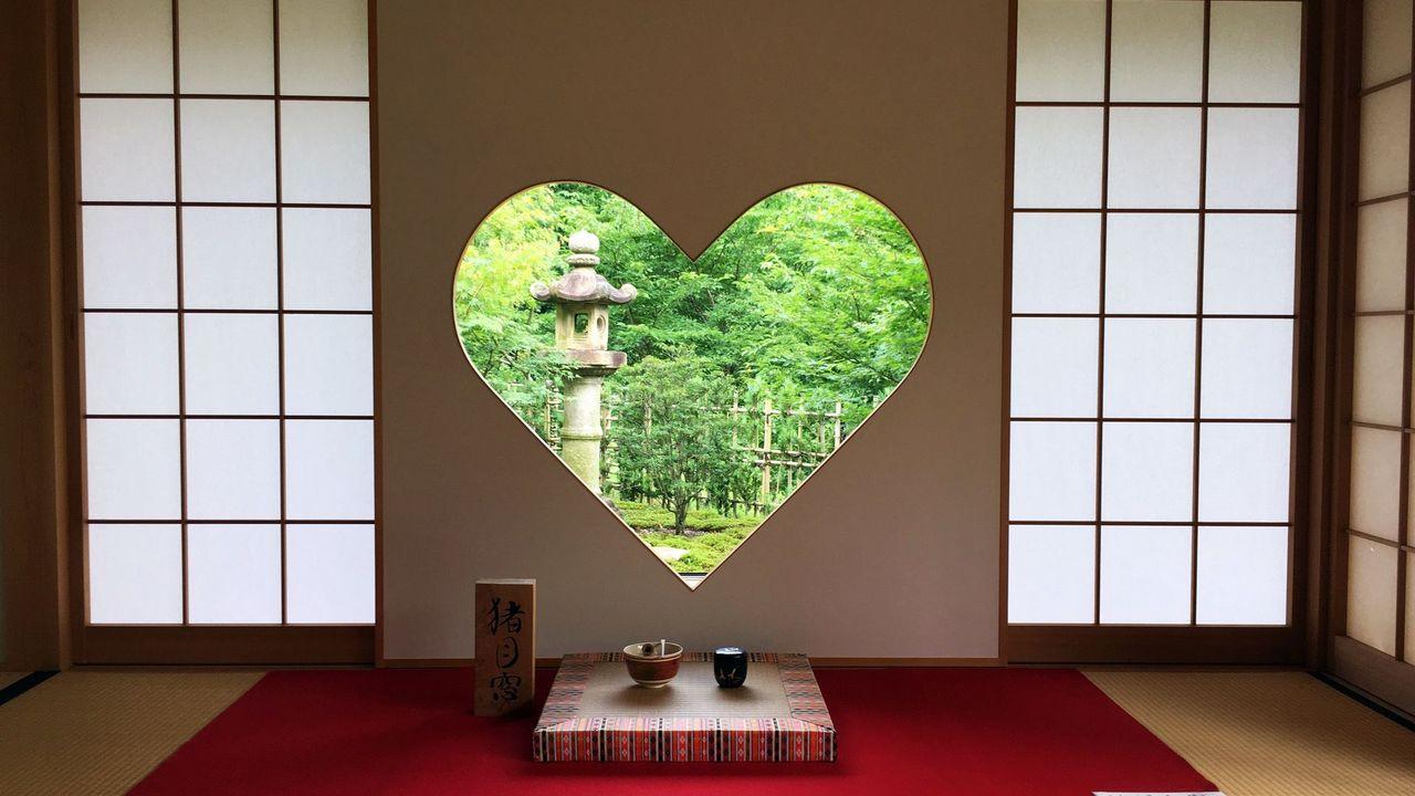 正寿院-ハート形の猪目窓