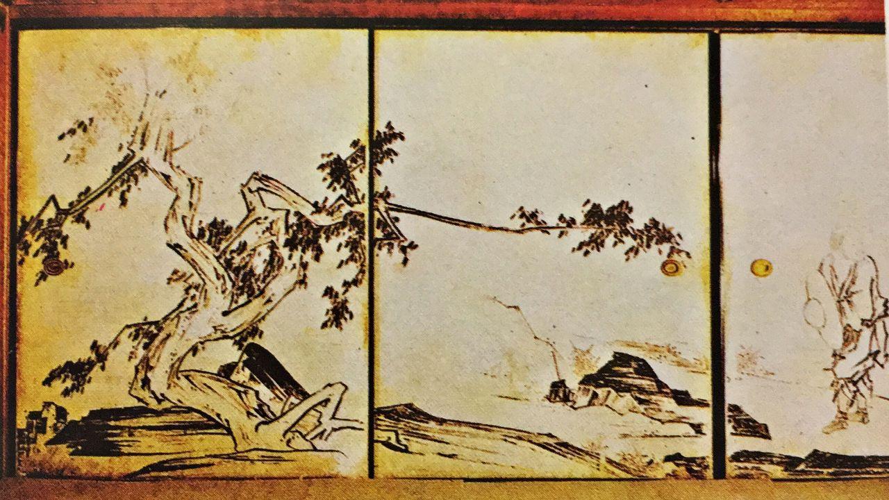 天授庵-本堂にある長谷川等伯の襖絵