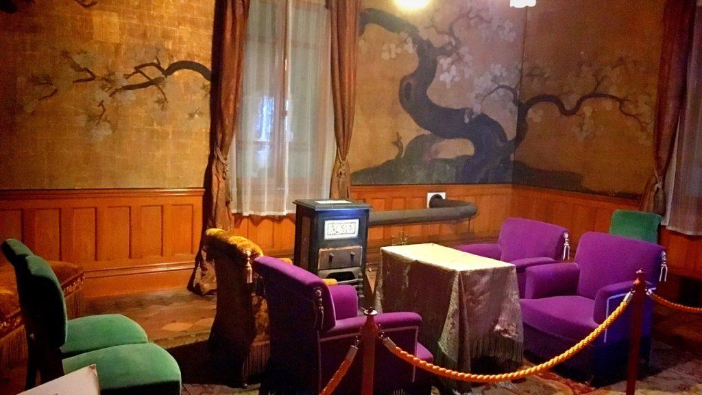 「無鄰菴会議」が開かれた洋館二階の部屋