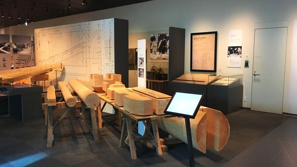 竹中大工道具館のB1F展示スペース(Takenaka Carpentry Tools Museum)