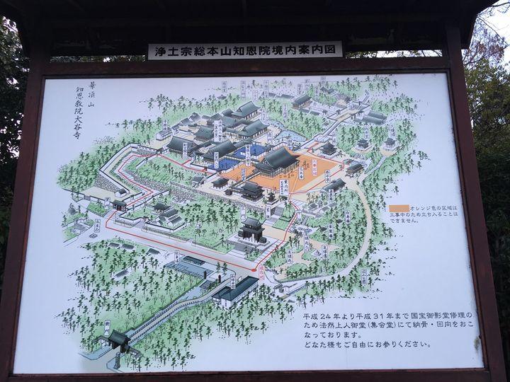 知恩院の地図