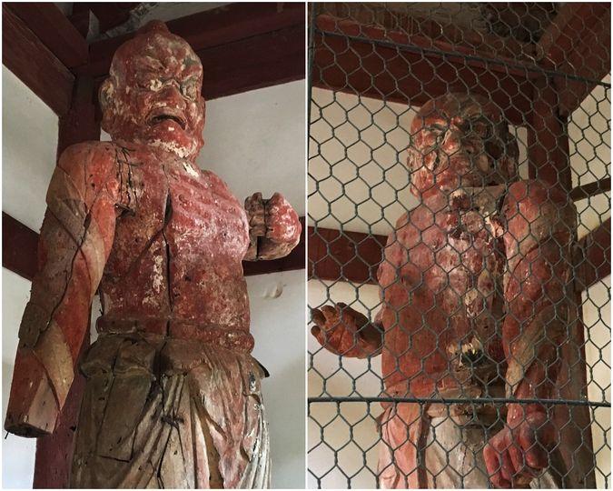 Wooden Standing Statue of Kongo Rishiki of Shoji-ji