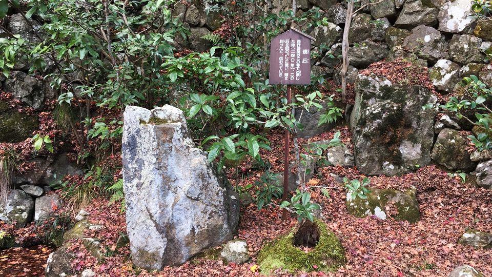 勝持寺の鏡石