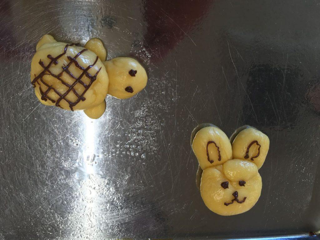 わくわくパン作り体験の生地成型3