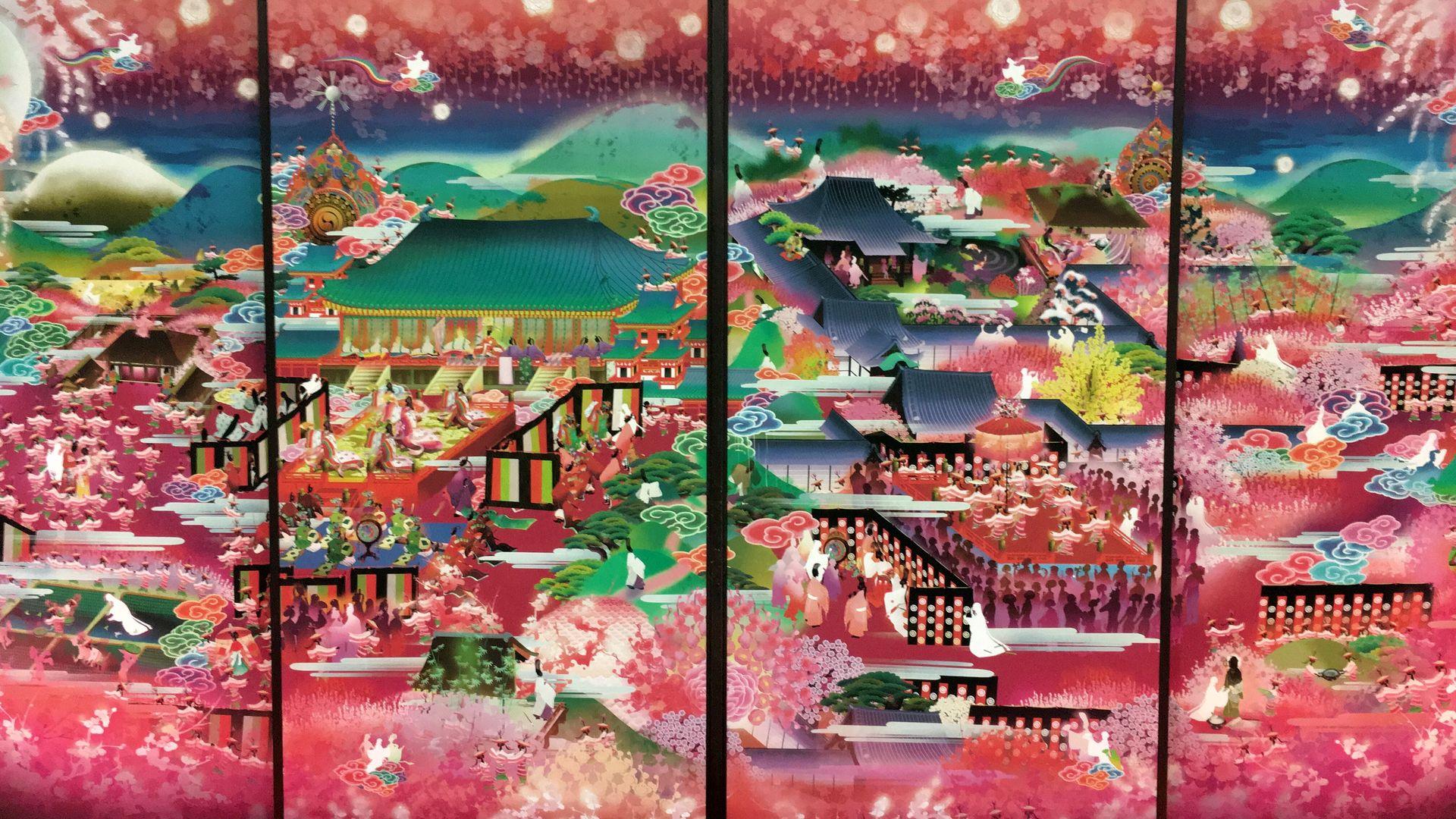 随心院の極彩色梅匂小町絵図