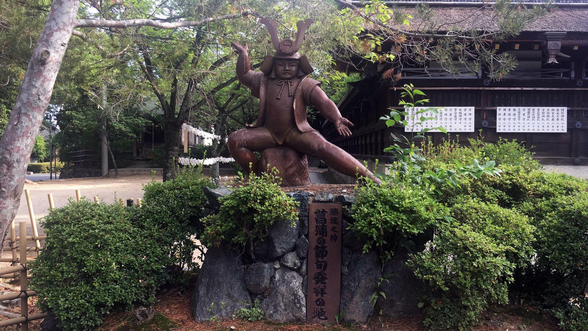 藤森神社の金太郎像