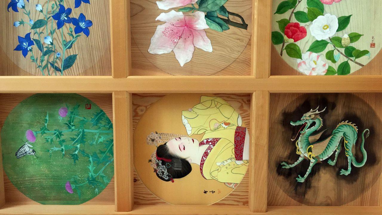 正寿院の客殿の天井画02