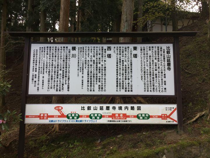 比叡山延暦寺の看板