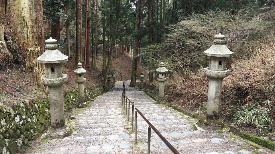 比叡山延暦寺の境内