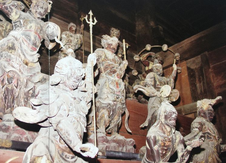 常楽寺の28部衆と風神雷神