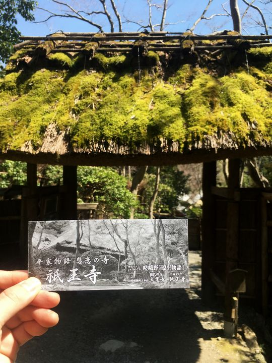 祇王寺の拝観券(Gio-ji Temple)