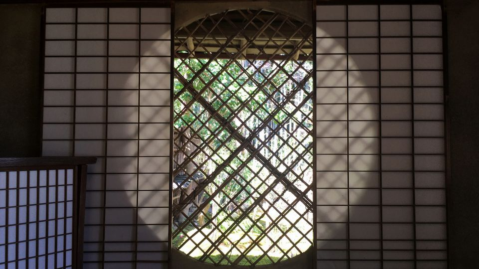 祇王寺の吉野窓(Yoshinomado window of Gio-ji Temple)