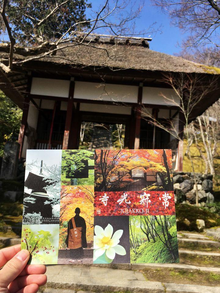 常寂光寺のパンフレット(Jojakko-ji Temple)