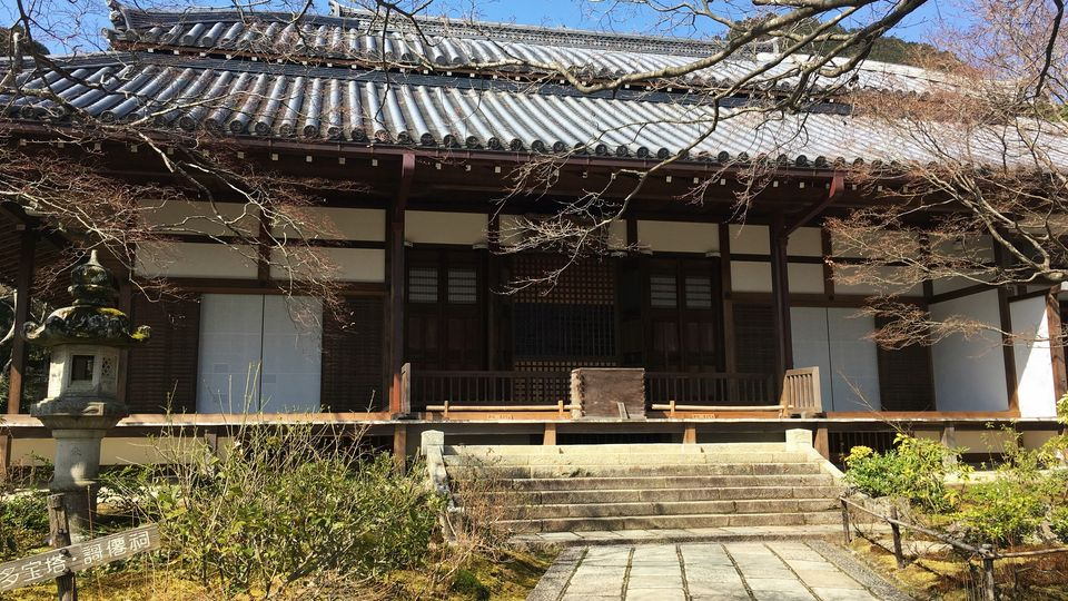 常寂光寺の本堂(Hon-do hall of Jojakko-ji)