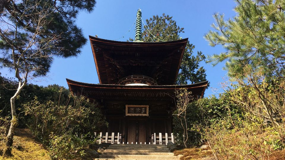常寂光寺の多宝塔(Taho-to pagoda of Jojakko-ji)