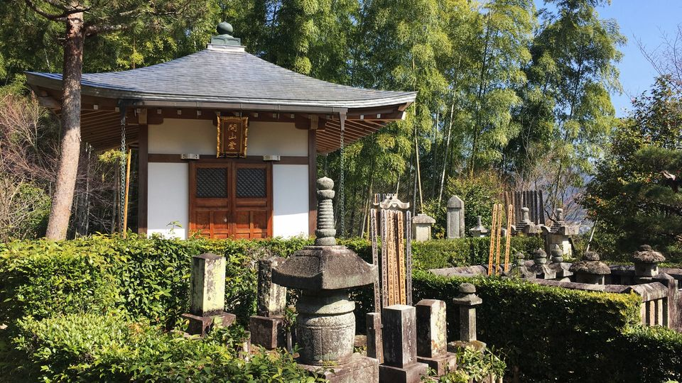 常寂光寺の開山堂(Kaizan-do hall of Jojakko-ji Temple)