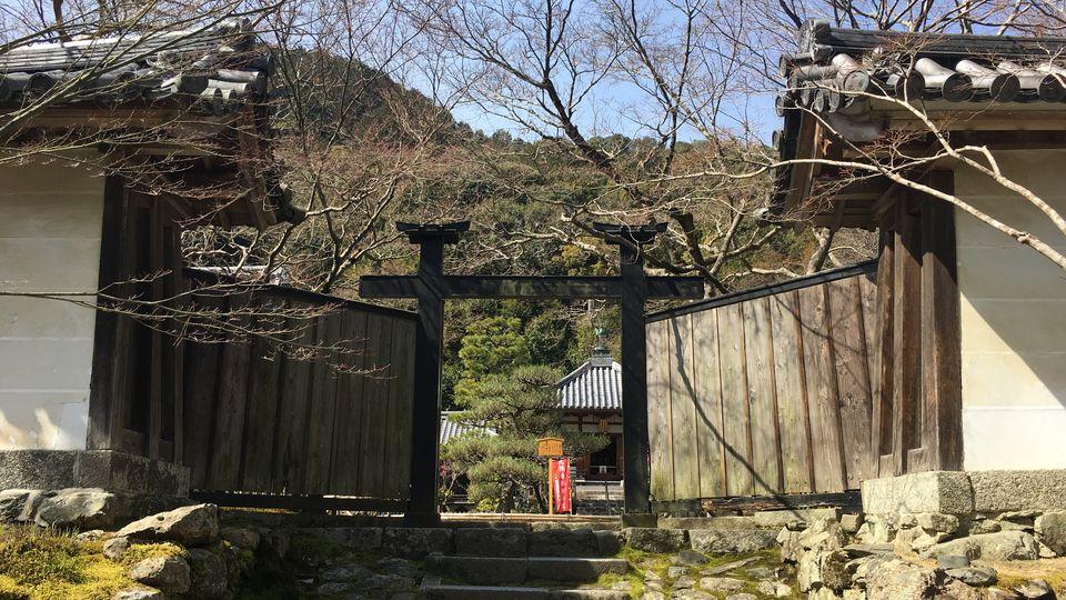 二尊院の黒門(Kuro-mon gate of Nison-in Temple)
