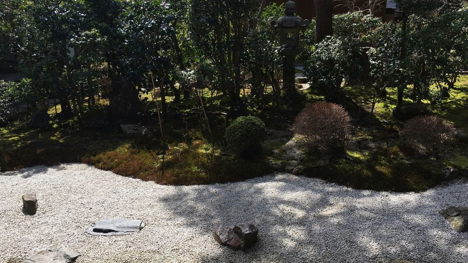 二尊院の寂光園(Jakko-en garden of Nison-in Temple)