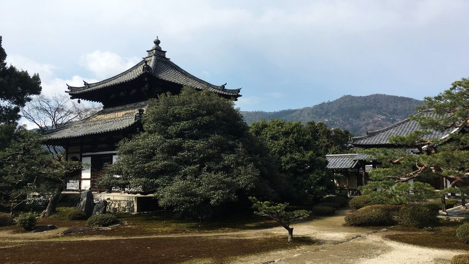 鹿王院の本庭(Garden of the Rokuo-in Temple)