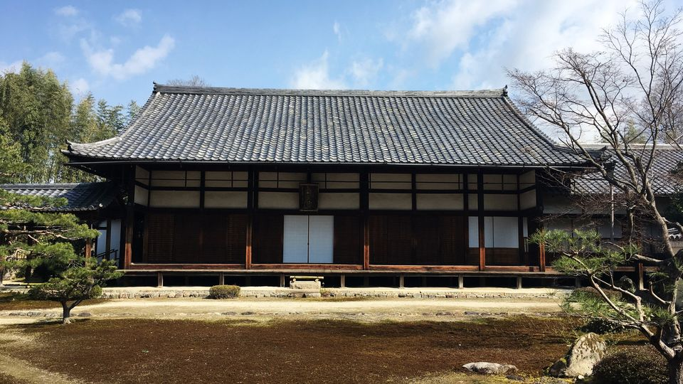 鹿王院の客殿(Kyaku-den hall of the Rokuo-in Temple)