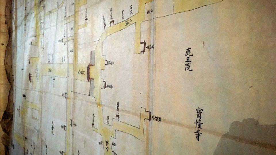 鹿王院の古地図(Rokuo-in Temple)
