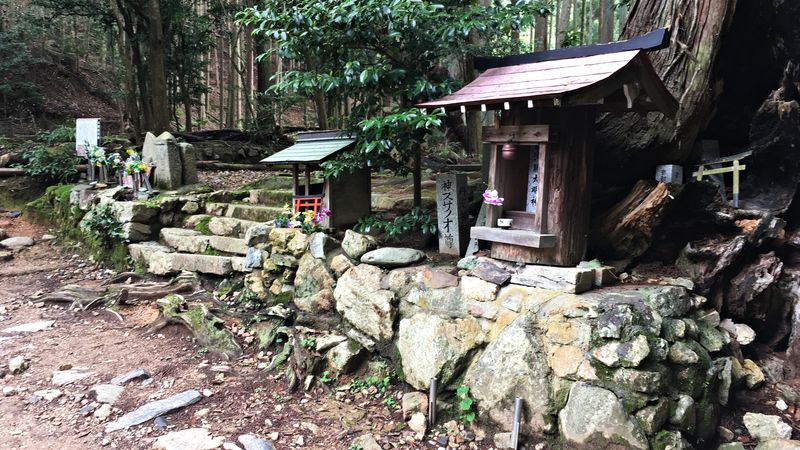 愛宕神社表参道の火燧権現跡(Hiuchigongen Shrine Ruins)