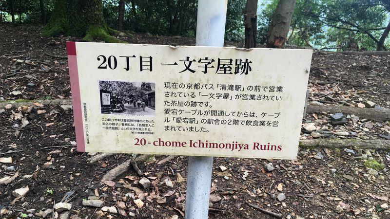 愛宕神社表参道の一文字屋跡(Ichimonjiya Ruins)