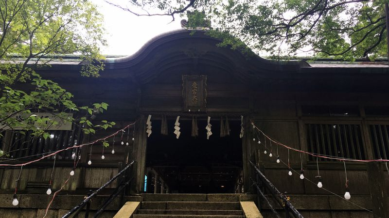 愛宕神社の幣殿(Hei-den Hall of Atago-jinja Shrine)