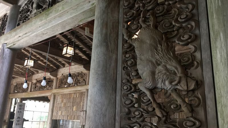 愛宕神社の本殿(Hon-den Hall of Atago-jinja Shrine)